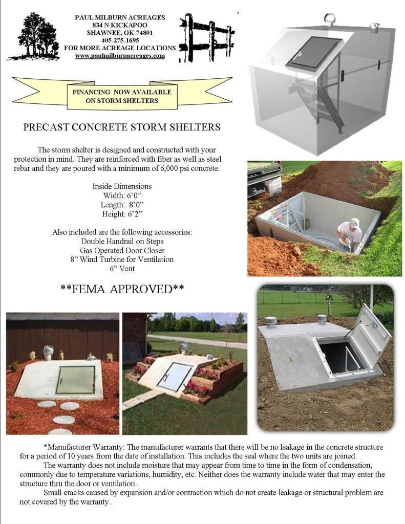 Storm Shelter flyer